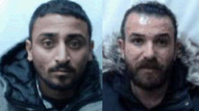 يزن أبو صالح، إلى اليسار، ومحمد أبو صالح، إلى اليمين، الذين يقول الشاباك إنهما كانا جزءا من خلية تابعة لمنظمة 'الجبهة الشعبية لتحرير فلسطين' خططت لهجمات على أهداف إسرائيلية في الضفة الغربية وإسرائيل، في صورتين غير مؤرختين. (Shin Bet)