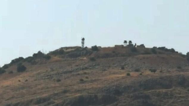 مشهد لموقع عسكري للجيش الإسرائيلي عند الحدود اللبنانية، 27 يوليو 2020 (لقطة شاشة قناة 12)