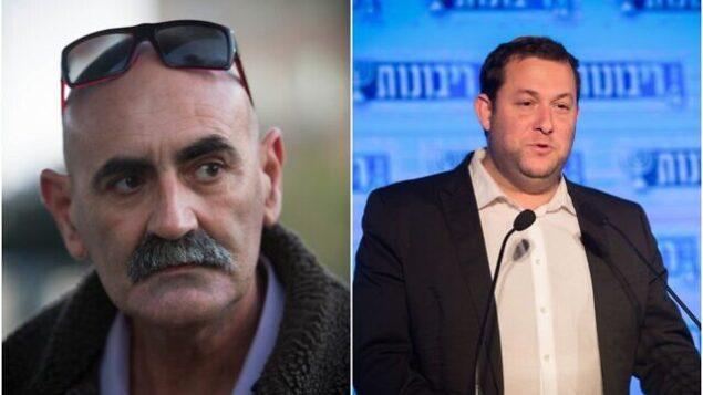 رئيس مجلس 'يشع' الاستيطاني دافيد إلحياني (من اليسار) ورئيس المجلس الإقليمي السامرة يوسي دغان. (Flash90)