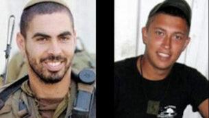 الرائد إليراز بيرتس (يسار)، والرقيب أيلان سفياتكوفسكي، اللذين قُتلا في تبادل لإطلاق النار مع مسلحين على حدود غزة في مارس 2010، في صور غير مؤرخة. (Foreign Ministry)