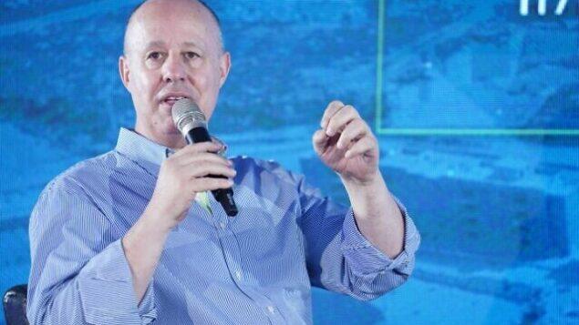 تساحي هنغبي تشارك في مؤتمر لمجموعة 'بشيفاع' في كيدم بالضفة الغربية، 5 سبتمبر 2019. (Hillel Maeir / Flash90)