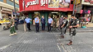 قوات الامن الفلسطينية تنتشر في بيت لحم، الخميس، 17 سبتمبر 2020 (Wafa)