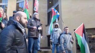 لقطة شاشة من مقطع فيديو لحملة التضامن الاسكتلندية مع فلسطين (YouTube)