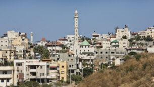 مدينة كفر قاسم العربية الإسرائيلية، بالقرب من تل أبيب، 2 يوليو، 2013. (Moshe Shai / FLASH90)