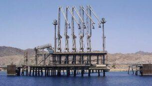 """محطة نفط تابعة لشركة خطوط الأنابيب  """"إيلات-أشكلون"""" في إيلات. (CC BY 2.5/Pikiwikisrael)"""