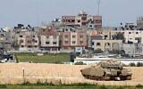 دبابة اسرائيلية من طراز ميركافا على الحدود مع قطاع غزة، 15 مارس، 2019. (Jack Guez / AFP)