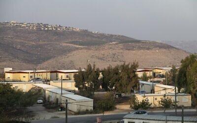 صورة لمستوطنة يتسهار في الضفة الغربية، 31 أكتوبر، 2019. (Sraya Diamant/Flash90)