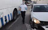 موقع حادث اصطدام وهروب مشتبه به بالقرب من قبر راحيل في بيت لحم، 2 ديسمبر 2020 (Magen David Adom)