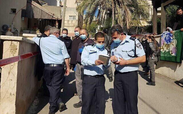 الشرطة تحقق في حادثة إطلاق نار في بلدة الرينة، 2 ديسمبر، 2020. (Israel Police)