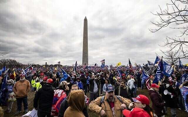 WASHINGTON, DC - JANUARY 06: Supporters of President Donald Trump flock to the National Mall by the tens of thousands for a rally on January 6, 2021 in Washington, DC. Trump supporters gathered in the nation's capital today to protest the ratification of President-elect Joe Biden's Electoral College victory over President Trump in the 2020 election.   Samuel Corum/Getty Images/AFP