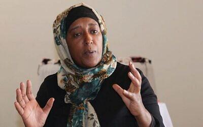 """آمال أبو القوم، من سكان شبيب السلام ومؤسسة منظمة """"نساء من أجل أنفسهن"""" غير الربحية.(Shmuel Bar-Am)"""