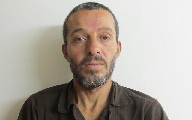 محمد مروح كبها  (40 عاما) من سكان قرية طرة الغربية الفلسطينية، متهم بقتل إستر هورغن من مستوطنة تل مناشيه، 20 ديسمبر، 2020. (Shin Bet)