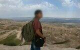 الشابة الإسرائيلية التي عبرت الحدود إلى سوريا وأعيدت بموجب صفقة بوساطة روسية، في صورة عرضتها القناة 12 في 20 فبراير، 2021. (Channel 12 screenshot)