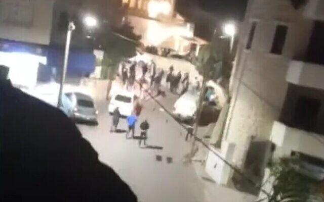 موقع تبادل إطلاق نار دام بين الشرطة ومجرمين في طمرة، 1 فبراير 2021 (Screenshot: Facebook)