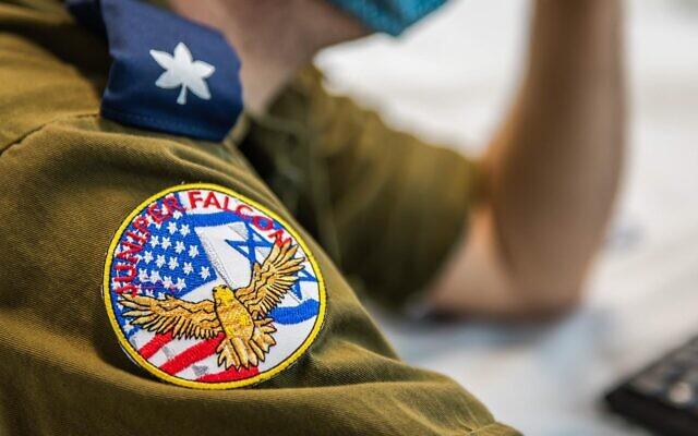 """ضابط في سلاح الجو الإسرائيلي يشارك في تدريب """"جونيبر فالكون""""، فبراير 2021 (Israel Defense Forces)"""