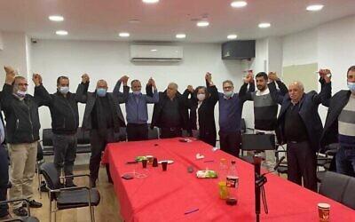 مركبات القائمة المشتركة: الجبهة والتجمع والقائمة العربية للتغيير يوقّعون على اتفاق لخوض الانتخابات قي قائمة مشتركة في الانتخابات المقررة في مارس، 3 فبراير، 2021.(Courtesy: Joint List)