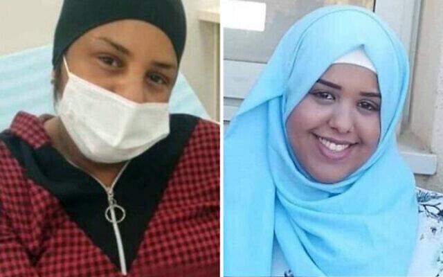 الشقيقتان شروق جبران (من اليمين) وآمنة قهوجي، اللتان توفيتا آثرا إصابتهما بكورونا بفارق أسابيع إحداهما عن الأخرى في مارس 2021.(Courtesy)