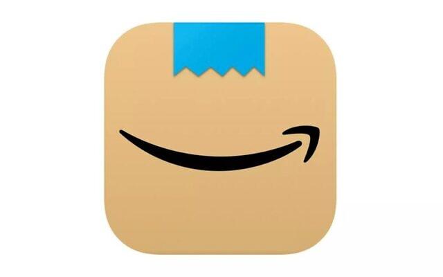 """شعار تطبيق """"أمازون""""، الذي تم استبداله الآن بعد تشبيهه بشارب هتلر (Courtesy)"""