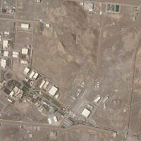 صورة أقمار صناعية من شركة Planet Labs Inc. تظهر منشأة نطنز النووية الإيرانية، 7 أبريل 2021 (Planet Labs Inc. via AP)