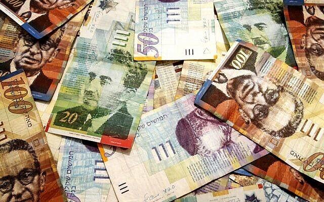 صورة توضيحية لأموال نقدية. (Abed Rahim Khatib/Flash 90)
