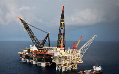 منصة تمار البحرية للغاز الطبيعي. (Delek Drilling)
