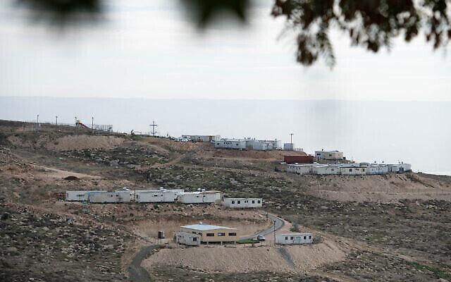 منظر للبؤرة الاستيطانية الإسرائيلية ميتسبيه داني، في الضفة الغربية، 17 يناير، 2021. (Sraya Diamant / Flash90)