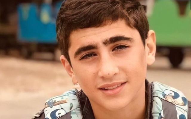 سعيد عودة، الفتى الفلسطيني الذي قُتل برصاص جنود إسرائيليين خلال مواجهات في شمال الضفة الغربية، 5 مايو، 2021.  (Courtesy)