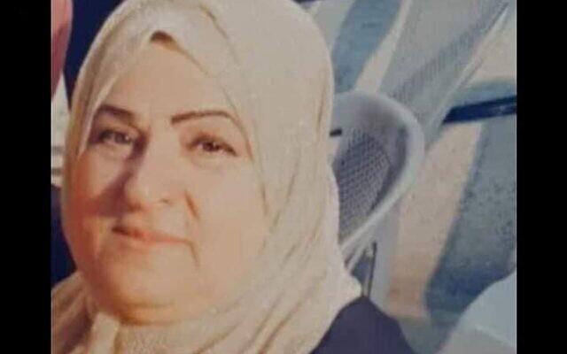 فهيمة الحروب (60 عاما) من سكان وادي فوقين، والتي قُتلت برصاص جنود إسرائيليين خلال محاولة تنفيذ هجوم طعن مزعومة، 1 مايو 2021 (courtesy: al-Hroub family)