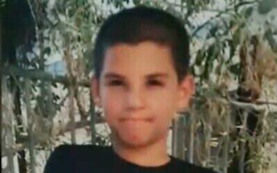 محمد ، فتى من يافا أصيب بجروح خطيرة بعد إلقاء زجاج حارقة على منزله، 14 مايو، 2021.  (Channel 12 screenshot)