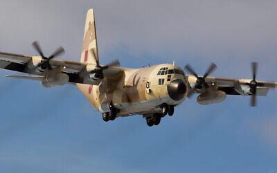 طائرة تابعة للقوات الجوية الملكية المغربية من طراز C-130 تستعد للهبوط في صورة غير مؤرخة.(Dmitry Terekhov/CC BY-SA 2.0/Wikimedia)