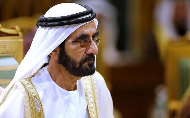 رئيس وزراء الإمارات العربية المتحدة الشيخ محمد بن راشد آل مكتوم يحضر القمة الأربعين لمجلس التعاون الخليجي في الرياض، المملكة العربية السعودية، 10 ديسمبر، 2019. (AP Photo / Amr Nabil، FILE)