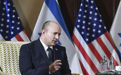 وزير الخارجية أنطوني بلينكين يلتقي برئيس الوزراء الإسرائيلي نفتالي بينيت في واشنطن ، الأربعاء 25 أغسطس 2021 (Olivier Douliery / Pool via AP)