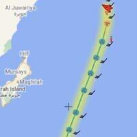 The Israeli-operated MERCER STREET was attacked near Oman, on July 29, 2021 (MarineTraffic.com screenshot)