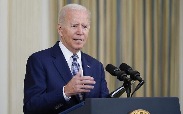الرئيس الأمريكي جو بايدن يتحدث من غرفة الطعام بالبيت الأبيض في واشنطن ، 3 سبتمبر 2021 (AP Photo / Susan Walsh)