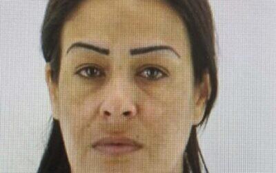 رشا مقلشي، التي يُشتبه بأن ابنها معاذ هيب قتلها في 5 أغسطس، 2021.  (Israel Police)