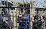 توضيحية: أسرى أمنيون فلسطينيون في سجن عوفر شمال القدس، 20 أغسطس، 2008. (Moshe Shai / Flash90 / File)