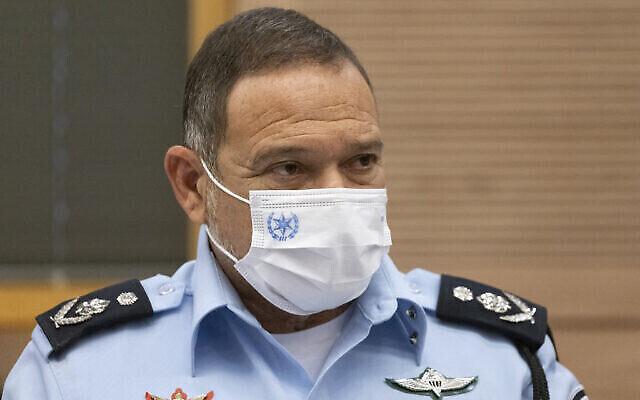 مفوض الشرطة كوبي شبتاي في الكنيست، 13 سبتمبر 2021 (Olivier Fitoussi / Flash90)