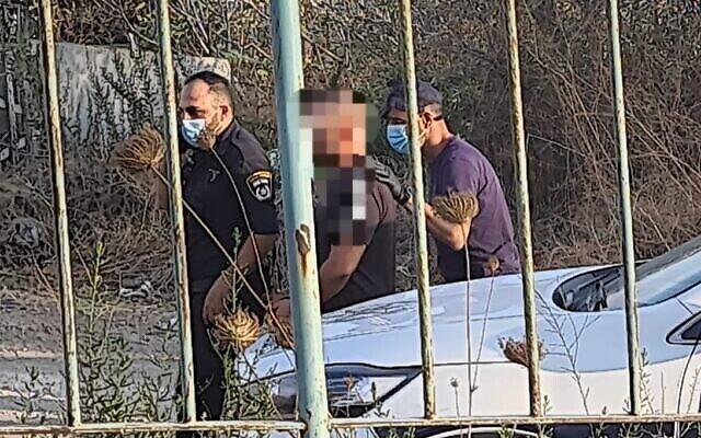 الشرطة تلقي القبض على مشتبه به في خطف امرأة من ملجأ للنساء المعنفات في 12 أكتوبر، 2021. (Courtesy)