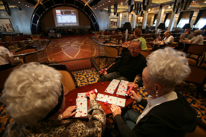 Gambling on a cruise ship (Photo credit: Yossi Zamir/Flash90)
