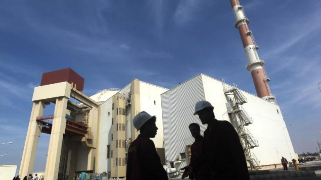 مفاعل بوشهار (أ ف ب)