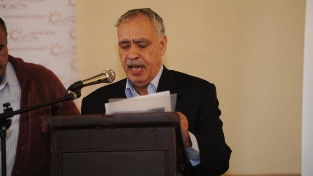 مندوب عباس محمد المدني يلقي كلمته امام منتدى براغ ٢٣ مارس ٢٠١٤ (courtesy/AJEEC-NISPED)