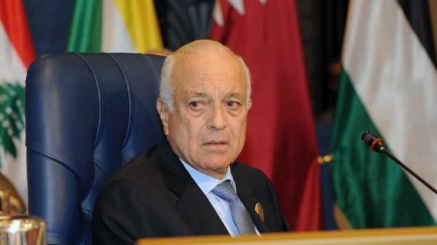 امين عام الجامعة العربية نبيل العربي في القمة الخامسة والعشرون في الكويت ٢٥ مارس ٢٠١٤ (ياسر الزيات/ أ ف ب)
