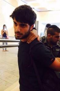 الشرطة تعتقل طالب اثناء مظاهرة ضد تجنيد العرب في الجامعة العبرية في القدس ٢٩ ابريل ٢٠١٤ (مقدمة من حلا مرشود)