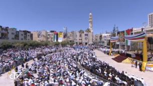 الحشد في بيت لحم (صورة شاشاة  CTV)