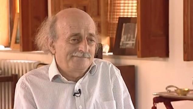 وليد جنبلاط في مقابلة مع البي بي سي ٢٠١٢ (من شاشة اليوتوب)