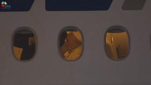 البابا فرانسيس على متن الطائرة (Screen capture: GPO)