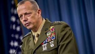 جون ألين، قائد سابق ذو أربع نجوم من قوات البحرية الأميركية في أفغانستان (Chad J. McNeeley/US Navy/DoD)