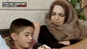 موسى زلوم يروي أحداث محاولة اختطافه على يد المشتبه بهم يوم قبل اختطاف وقتل محمد ابو خضير (من شاشة القناة الثانية)