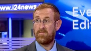 الناشط اليميني يهودا غليك (من شاشة اليوتوب)