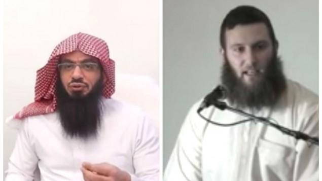 شيخ أحمد موسى جبريل (يسار) والاسترالي موسى سرنتينو (من شاشة اليوتوب)